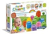 Clementoni - Baby Clammy, 12 Bloques Blandos y Seguros (14706)