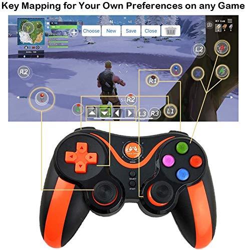 HK Regulador del Juego, regulador de Vuelo Joystick Juego simulador, Gamepad Controlador de Juegos inalámbrico para Android/iOS/iPhone/iPad, Asignación de Clave