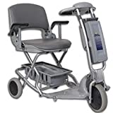 Tzora - Easy Travel Elite - Folding Lightweight Travel Scooter - 3-Wheel - Silver