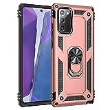 JIAFEI Funda Compatible con Samsung Galaxy S20 FE 4G/5G, Robusta Caja Híbrida PC + TPU de Doble Capa Carcas, Oro Rosa