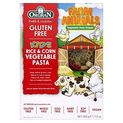 Orgran Gluten Free Rice & Corn Vegetables Pasta Animal Shapes - 200g (0.44lbs)