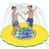 170cm Splash Pad Almohadilla de Aspersión para Niños Pequeños para Fiestas al Aire Libre para Playa de Rociador Water Spray de Agua