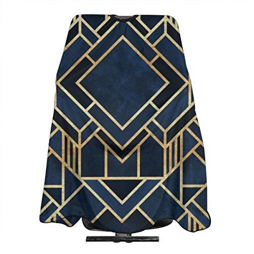 Art Deco Tablier de coiffure imperméable Bleu 140 x 168 cm