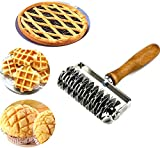 ZuoLan Stainless Steel Pastry Crimpers Lattice Roller Cutter Baking Tool for Pie Pizza Cake Bread Cookie