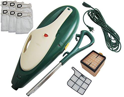 Vorwerk Kobold VK 135 Aparato básico, incluye filtros nuevos, cable, mango, 6bolsas (microfiltro y filtro de olores) y tapa del motor