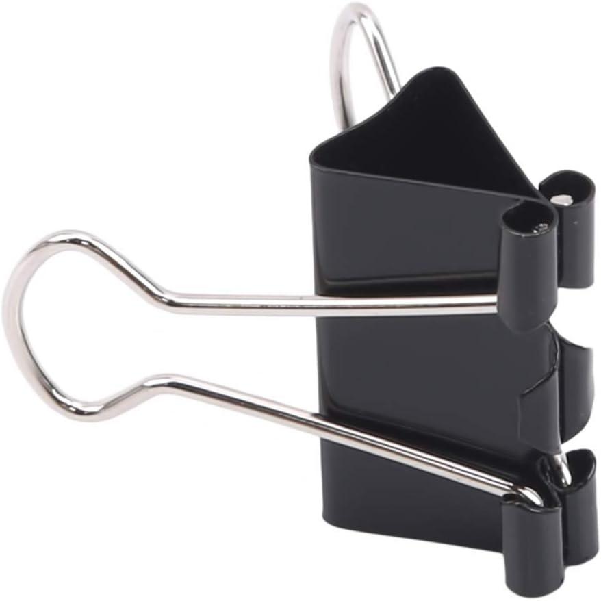 JIFNCR Binder Clips Noir Paper Clips Binder Pinces Papier Pinces m/étal Bulldog Clip pour Picture Photo Sac Scellant Fichier Document du Home Office Cuisine,15 mm