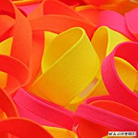 FUJIYAMA RIBBON ネオンカラー 薄手ニットテープ ポリエステル 9mm 蛍光ピンク 9.14M巻 手芸 服飾 ラッピング