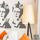 Frida Kahlo Retrato Plantilla Decorativo & Manualidades Plantilla Pintura Lienzo Arte, Paredes, Telas, Muebles Varios Tamaños Opciones Reutilizable Plantilla por Ideal Stencils - XS/ 9X17CM