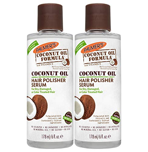 Palmer's Coconut Oil Formula Hair Polisher Serum, 6 Ounces (Pack of 2)