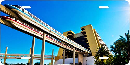 Disney Monorail and Contemporary Novelty Vanity License Plate