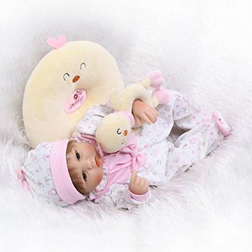 iCradle Bambola Reborn Baby Doll 17 Pollici 43cm Simulazione Morbida Neonata Realistica Silicone Vinile Bebe Bambole Giocattolo per Bambini Regali di Compleanno Regalo di Natale(Corpo in Tessuto)