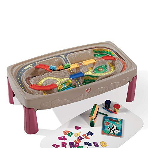 Step2 Deluxe Grand Canyion Table de jeu Circuit Voiture et Train   Circuit Enfant Voitures inclus
