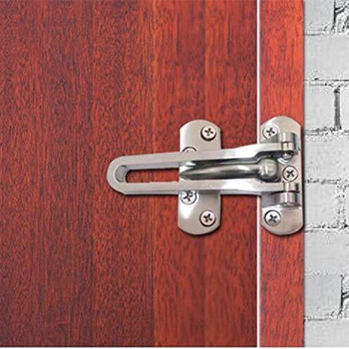 Door Latch, Swing Bar Door Lock Latch, Home Reinforcement Security Door Latch Lock for Hinged Swing-in Doors, Heavy Duty Lock Chain,Door Lock Latch for Kids Safety,Silver