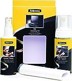Fellowes Kit de Limpieza para Ordenador (Spray Limpiador Pantallas+Bote Espuma Superficies+toallitas+Limpiador Teclado)