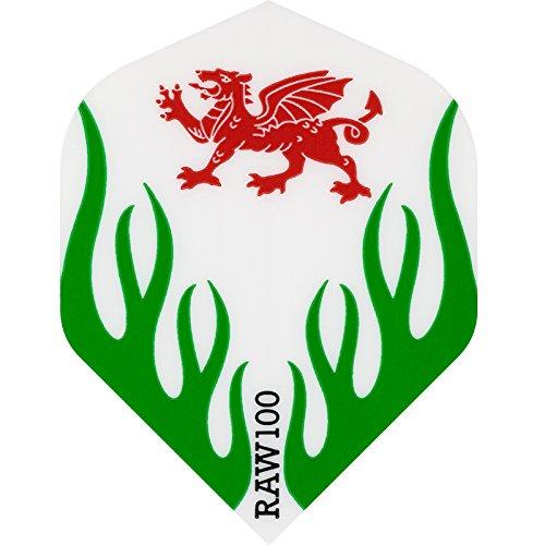 Dart Flights–Raw 100–Nationen–Extra Stark–STD–Wales–5sets (15)
