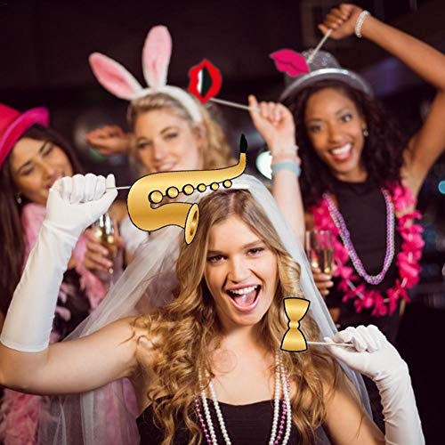 Sliveal Foto Requisiten Unter Dem Motto DIY Photo Booth Kreative Lustige Glitzer Foto Requisiten Für Hochzeit, Geburtstagsfeier Oder Hollywood Party - 25 PCS Tremendous Reliable Show