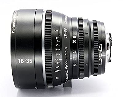 Cinematics Customized cine Lens Sigma 18-35 f1.8 t2 ef/pl/Nikon Mount for Sony f55 fs7 a7 RedOne Epic Scarlet Dragon Raven bmcc Black Magic ursa Canon Nikon by Cinematics