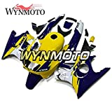 WYNMOTO Motorcycles Full Fairing Kit Compatible With Honda CBR600 CBR 600 F3 Year 1995 1996 95 96 Body Kits ABS Injection Gloss Yellow Blue Cowlings Bodywork Hulls