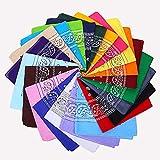 Bandanas, VIPITH 12 Pack de doble cara con estampado de cachemira de algodón bandana diademas para la cabeza de la bufanda para mujeres y hombres (color al azar)