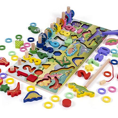 IrahdBowen Juego de números de Madera Montessori, 11 Tipos de números en Forma de Alfabeto de Colores, Bloques de construcción de clasificación educativos, Juguete de Regalo para niños y workable