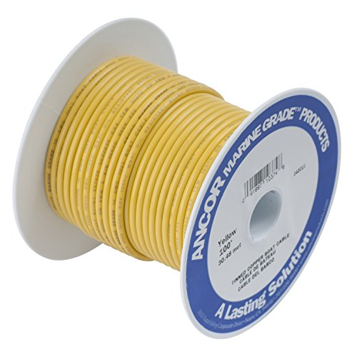 Ancor Marine Grade Primary Wire and Battery Cable (Yellow, 100  Feet, 14 AWG)