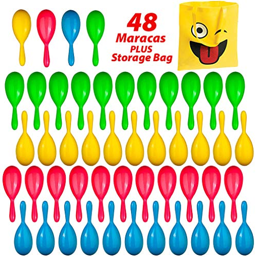 Best Prices! Maracas for Kids, 48 Piece Set - Maracas Noise Makers - Fiesta Party Favors, New Yearâ€...