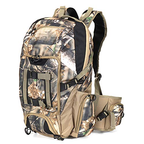 Auscamotek Camo Hunting Backpack Camouflage Bag Waterproof Day Pack for Fishing Hiking Camping Woodland Brown