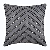 The HomeCentric Decorative Pillow Covers 12x12 inch (30x30 cm) Grey, Suede Throw Pillow Covers, Handmade Pillow Covers, Solid Color Pillow Covers, Modern Accent Pillow Covers - Penthouzz
