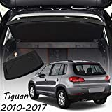 CARORMOKE Cargo Cover Luggage Cover Privacy Shade Trunk Cover Security Shield Black Compatible with 2010-2017 VW Volkswagen Tiguan