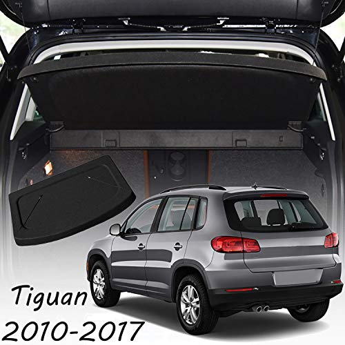 CARORMOKE Cargo Cover Luggage Cover Privacy Shade Trunk Cover Black Compatible with 2010-2017 VW Volkswagen Tiguan