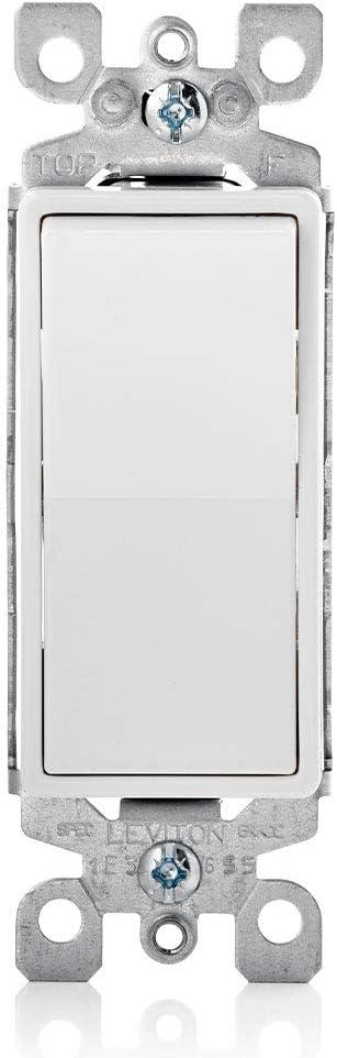 Leviton 5611-2WS 15A Phoenix Mall Decora Single Illuminated Max 58% OFF Switch with Pole
