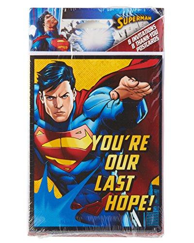 Amscan International Superman invita/biglietti di ringraziamento...