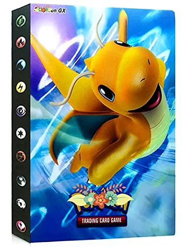 Album Compatible Con Pokemon, Album Compatible Con Pokemon Para Cartas, Álbum de Pokemon, Carpeta compatible con Cartas Pokemon, Album compatible con Cartas de Pokemon(Drag)