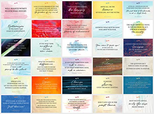 Focus and Zeal Note Cards About Powerful Women From Historic Women - Motivational, Inspirational, Educational, Colorful and Funny - Blank on the Back for a Note. 3 x 5 Inch, Qty 30, No Envelopes.