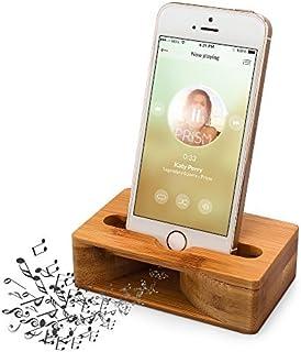 (更新版)木製スピーカー ARCHEER iPhoneスタンド・携帯スマホスタンド・天然竹スタンド・ スマホホルダー サウンドアンプ機能を付け 竹製スマホスピーカー 手作り 電源不要 iphone/Samsung/xperia 等の4.7-5....
