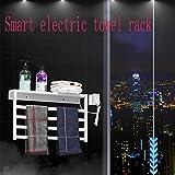 KaiKai Más Caliente del radiador, Moderno Estante Superior 304 Barandilla de Acero Inoxidable eléctrico Plug-in de Toallas toallero eléctrico Estante de Pared Tendedero