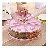 zhoufeng Home Storage Plastic Frutta secca Bagagli Boxes Multi-Funzione Home Caramella del Fumetto Snack Snack Sealed Piatto di Frutta secca, Il Set di Storage Perfetto per Il Cibo (Color : Pink)