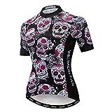 Weimostar Maillot de ciclismo para mujer MTB, Mujer, 22 esqueleto lila., M = Brust 84-90 cm