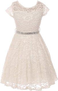 iGirlDress Little Girls Floral Lace Flower Girls Dresses sizes2-14