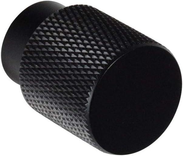 Gloss Black Knurled Knob #6500 CKP Brand Linear Aluminum 3//4 in. 20mm