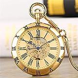 FMXKSW Reloj de Bolsillo Números Romanos Antiguos Pantalla