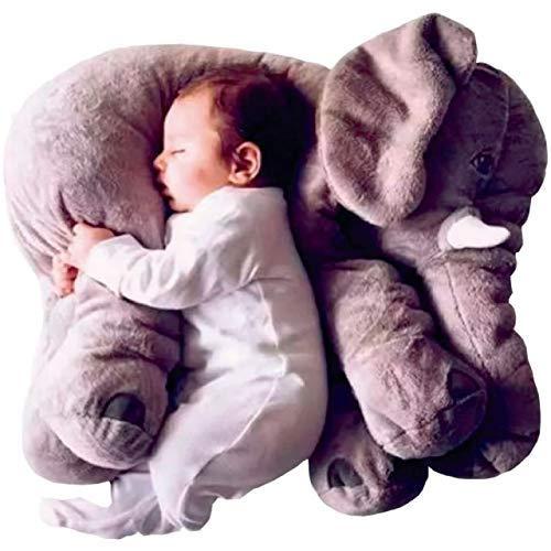 VANNI Adorable Peluche 8601.1 Elefante Almohada Altura 60 cm (Gris)