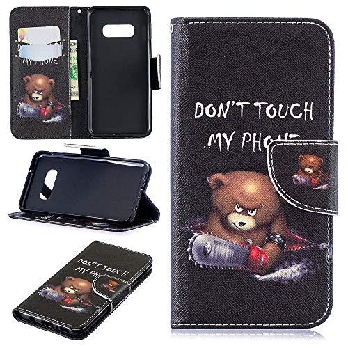 CoverKingz Handy Hülle für Samsung Galaxy S10e Handyhülle Schutzhülle, Flip Case mit Kartenfach, Motiv Bär