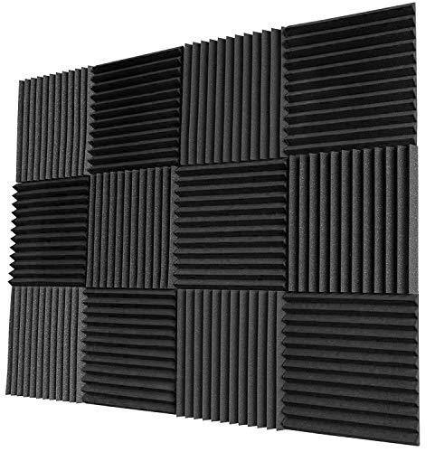 Acoustic Panels Studio Foam Sound Proof Panels Nosie Dampening Foam Studio Music Equipment Acoustical Treatments Foam 12 Pack-12''12''1''