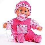 Bayer Design- Poupon Bébé-Premiers Mots avec 24 Sons-Rose-38 Cm, 93800-pink, Rose