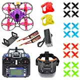 JMT FPV Version DIY RC Drone Quadcopter with RTF with FPV Goggles/Watch Mobula7 V3 75MM Frame Crazybee F4 Pro V3.0 2-4S Flight Controller SE0802 Motors (FPV Goggles Version)