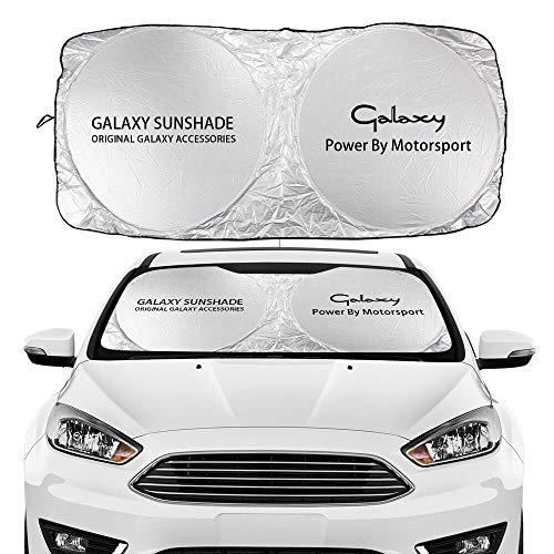 JHSHOP Parasol para Coche Compatible con Ford Fusion Galaxy GHIA GT KA Kuga Mondeo Mustang Puma Ranger Shelby S-MAX St Accessories Coche Windshield Sun Shade Funda Sombrilla (Color : For Galaxy)