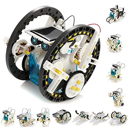 KIDWILL 13 in 1 Solar Roboter Set, STEM Spielzeug Roboter Bausatz Elektronik Baukasten mit Solar Wissenschaft, Experimente Spielzeug für Kinder ab 10 Jahren