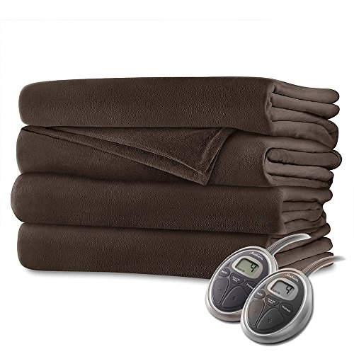 Sunbeam Luxurious Velvet Plush King Heated Blanket with 20...