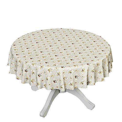 ANRO tafelzeil tafelkleed wasdoek afwasbaar tafelkleed ruiten bloemen klassiek